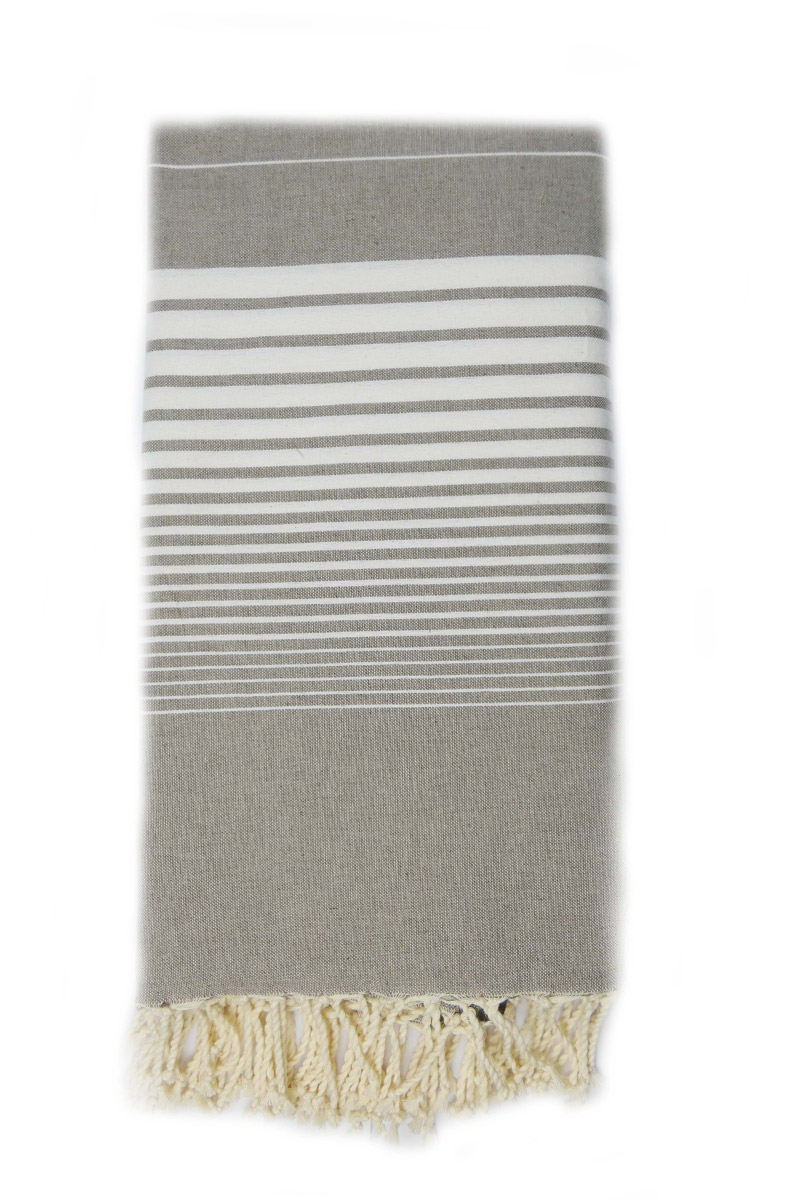 4044 fouta miami 2x3 taupe rayures blanches dinotex-export.com