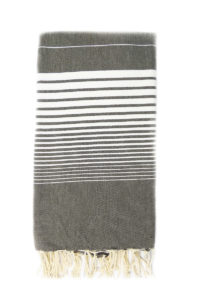 4045 fouta miami 2x3 marron chocolat rayures blanches dinotex-export.com